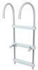 "Jif Marine Gunwale Hook Ladder - 3 Steps - 40"" Tall - 250 lbs - Aluminum - 11"" Hooks Aluminum JIF93FR"