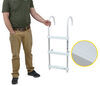 "Jif Marine Gunwale Hook Ladder - 3 Steps - 40"" Tall - 250 lbs - Aluminum - 11"" Hooks 3 Steps JIF93FR"