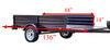 detail k2 trailers utility tilt bed frame mighty multi a-frame trailer - 7-1/2' long 1 640 lbs