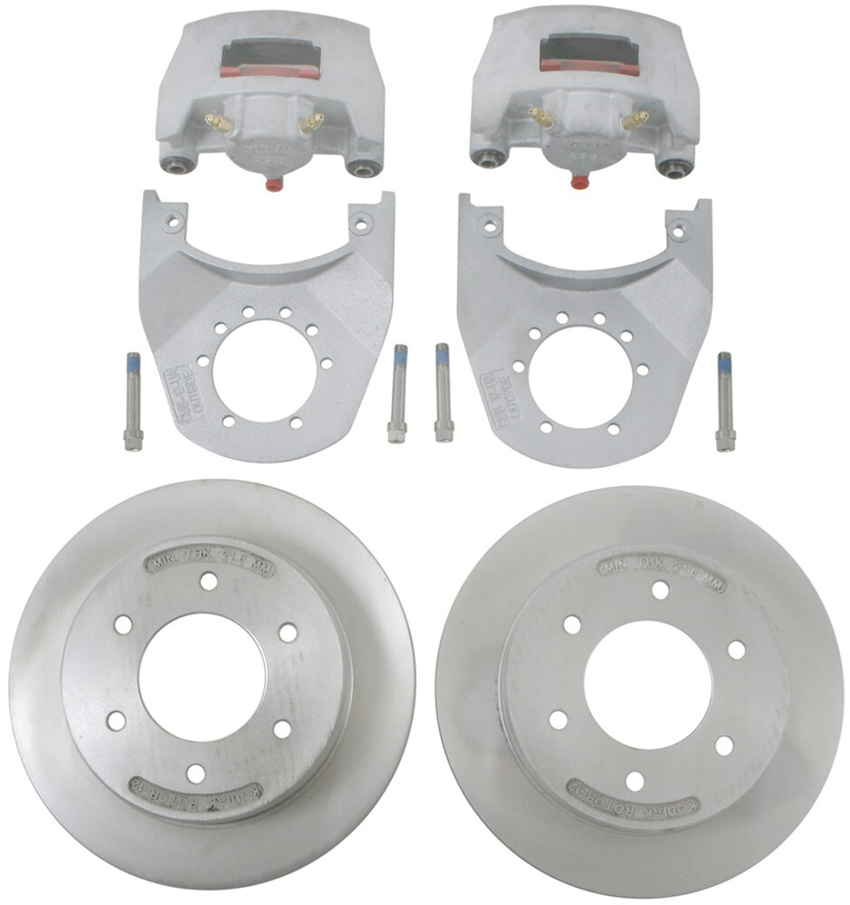 "Kodiak Disc Brake Kit - 12"" Rotor - 6 on 5-1/2 - Dacromet and Stainless Steel - 6,000 lbs Brake Set K2R526DS"