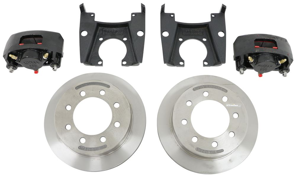 "Kodiak Disc Brake Kit - 13"" Rotor - 8 on 6-1/2 - Raw Finish - 5/8"" Bolts - 8K Dexter Axle 16 Inch Wheel,16-1/2 Inch Wheel,17 Inch Wheel,17-1"