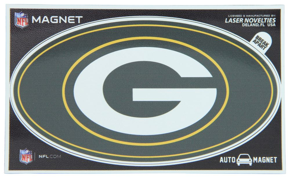 """Green Bay Packers Car Magnet - Oval - 6"""" Long x 3-1/2"""" Tall Sports KD61785"""