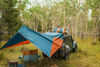 0  car awning kelty tailgate mount 120 square feet waypoint - 11' long x 13' 9 inch wide dark teal and orange
