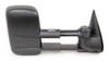 K-Source Custom Extendable Towing Mirror - Manual - Black - Passenger Side Non-Heated KS62073G