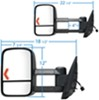 Towing Mirrors KS62093-94G - Fits Driver and Passenger Side - K Source