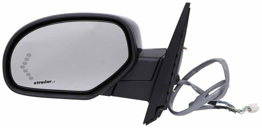 K-Source Replacement Side Mirror - Electric/Heat w Signal, Memory, Power Fold - Black - Driver Single Mirror KS62152G