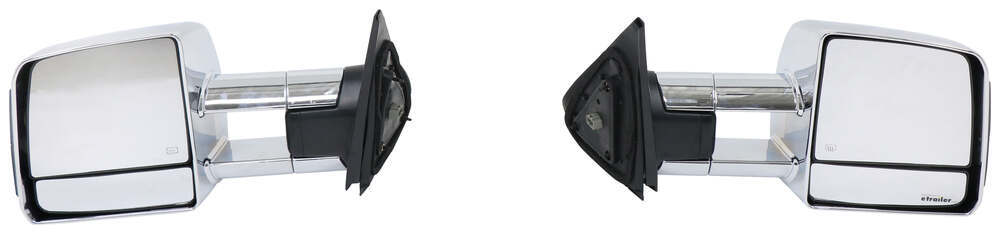 K-Source Custom Extendable Towing Mirrors - Electric/Heat w Turn Signal - Black/Chrome - Pair Fits Driver and Passenger Side KS70131-32T