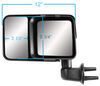 k source towing mirrors manual non-heated ks80740