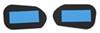 K-Source Custom Blind-Spot Mirrors w/ Optical Blue Lenses - Driver and Passenger Side Manual KSCW1000