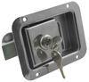 """Junior"" Locking Stainless Steel Flush Door Latch with Inside Release Flush Latch L1833"