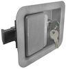 Full Size Locking Steel Flush Door Latch 3-3/8 x 4-5/8 Inch Cutout L3980