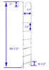 stromberg carlson rv ladders exterior ladder w/ hinges - aluminum 99-1/2 inch tall x 12 wide