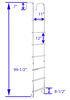 LA-401 - 99-1/2 Inch Tall Stromberg Carlson Exterior Ladders