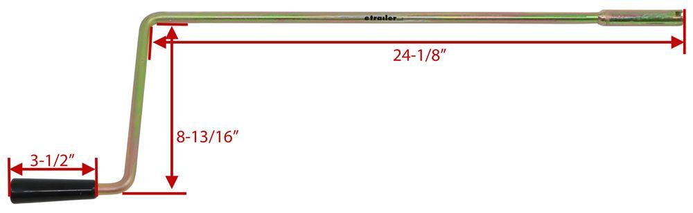 Replacement Manual Crank Handle for Kvsrr Camper Stabilizer Jacks 19mm