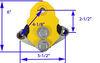 lippert trailer leaf spring suspension equalizer upgrade kit 5-1/2 inch long lc281314