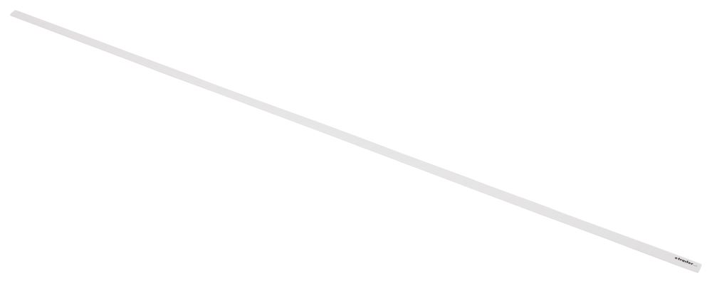 "Replacement 76"" Snap Trim Screw Cover for Lippert Components Radius Screen Doors - White Trim LC326191"