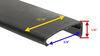 "Lippert Components Snap Trim Screw Cover - 76"" - Black Black LC326192"