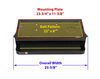 """Kwikee Electric RV Step Complete Assembly - Single - 35 Series - 24"""" Wide 24 Inch Wide Step LC3691461"""