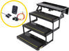 kwikee rv and camper steps motorhome no ground contact electric step complete assembly - triple 23 series 24 inch wide