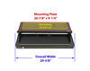 kwikee rv and camper steps motorhome electric step complete assembly - single 33 series 28-1/8 inch wide