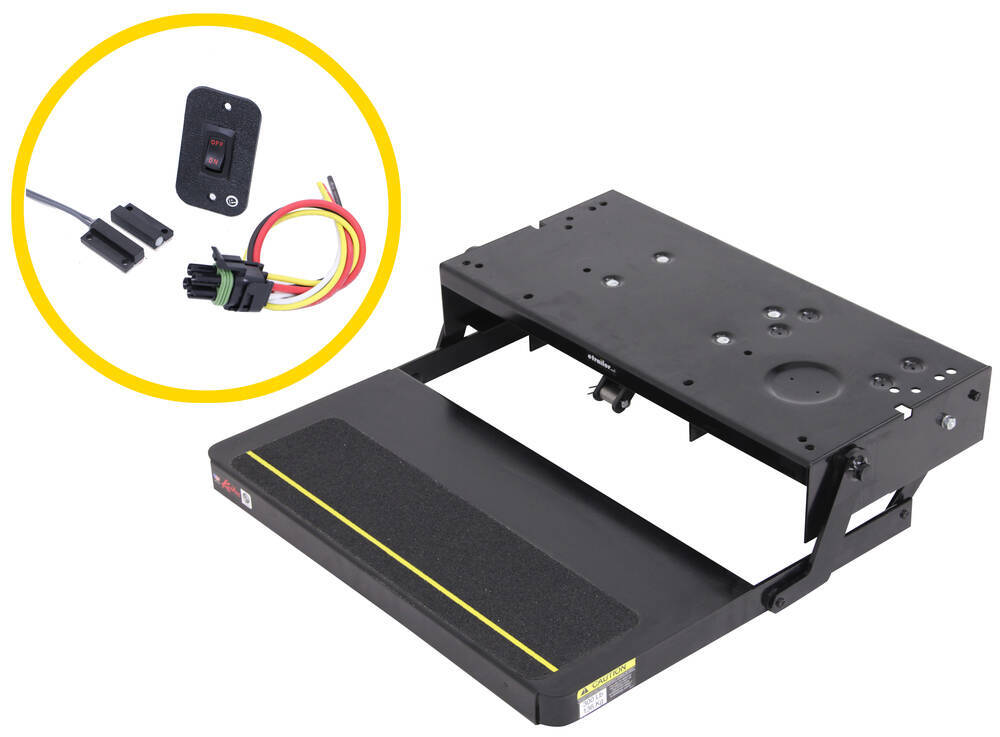 """Kwikee 38 Series Electric RV 1-Step - Motor, Control, Switch - 22"""" x 8"""" Bolt Pattern Electric Step LC3723383"""