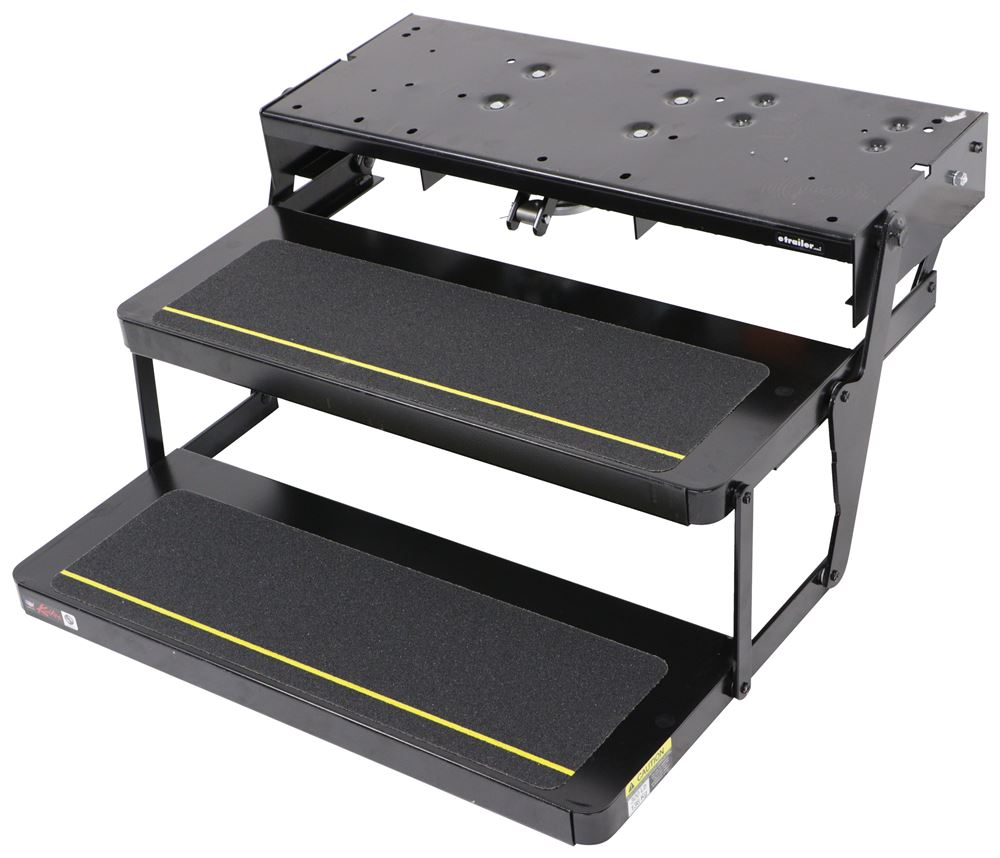 """Kwikee 27 Series Electric RV Steps - Double - 29"""" x 10"""" Bolt Pattern 7 Inch Drop/Rise LC375632"""
