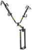 """Jack-It 2 Bike Rack for A-Frame Trailers - 18-1/2"""" Jack Clearance Tongue Mount Hitch Rack LC671846"""