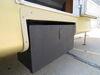 0  rv cargo carrier lippert bins solidstep locking storage box - powder coated steel 100 lbs