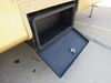0  rv cargo carrier lippert bins chassis mount solidstep locking storage box - powder coated steel 100 lbs
