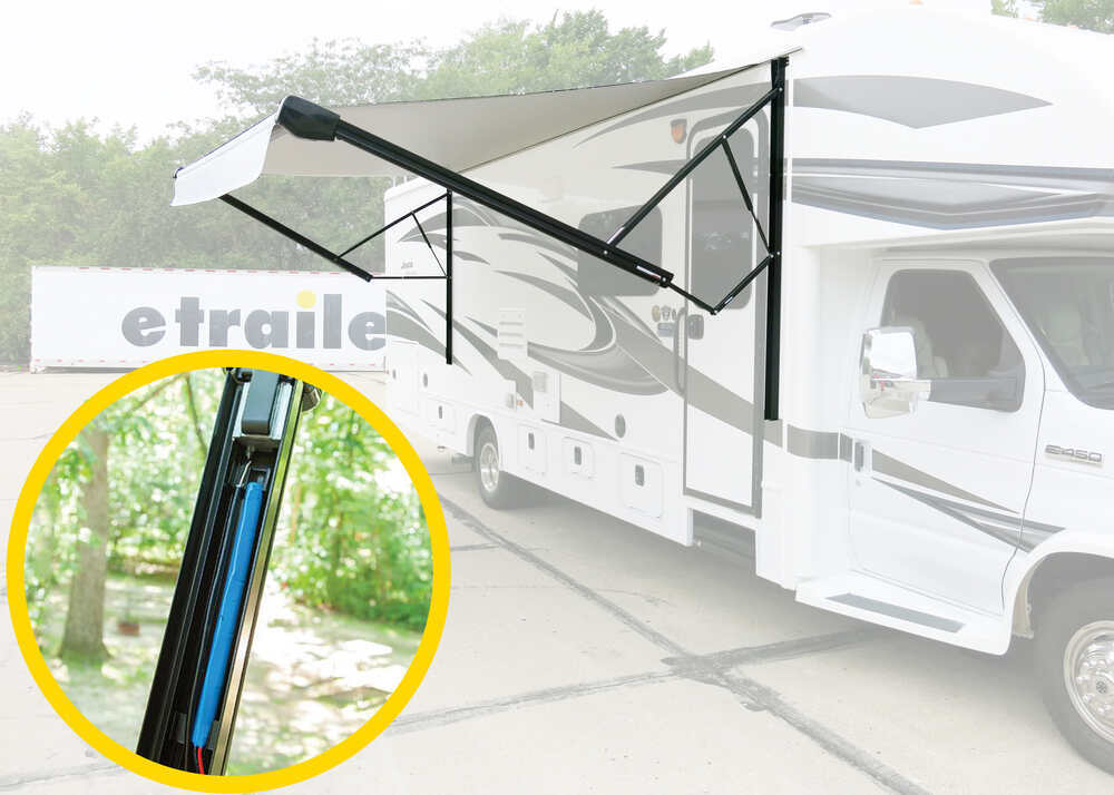 Solera 18V Power RV Awning - 16' Wide - Rechargeable Battery - Black Fade Black Fade LC729486