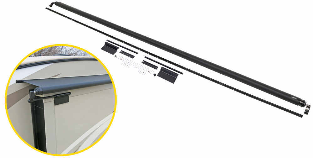Solera Rv Slide Out Awning 12 7 Wide 48 Projection Black Lippert Components Rv Awnings Lcv000165061