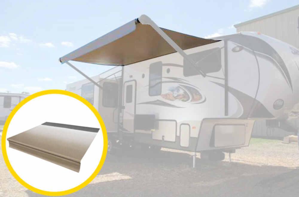 Solera 19' Replacement Awning Fabric - Sand Fade w/ Black Weatherstrip Fabric LCV000334428