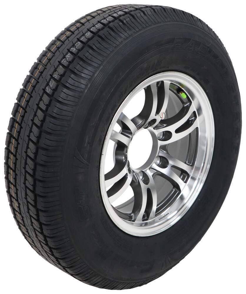 "Castle Rock ST225/75R15 Radial Tire w/ 15"" Jaguar Aluminum Wheel - 6 on 5-1/2 - LR D - Gray 15 Inch LHACKSJ311G"