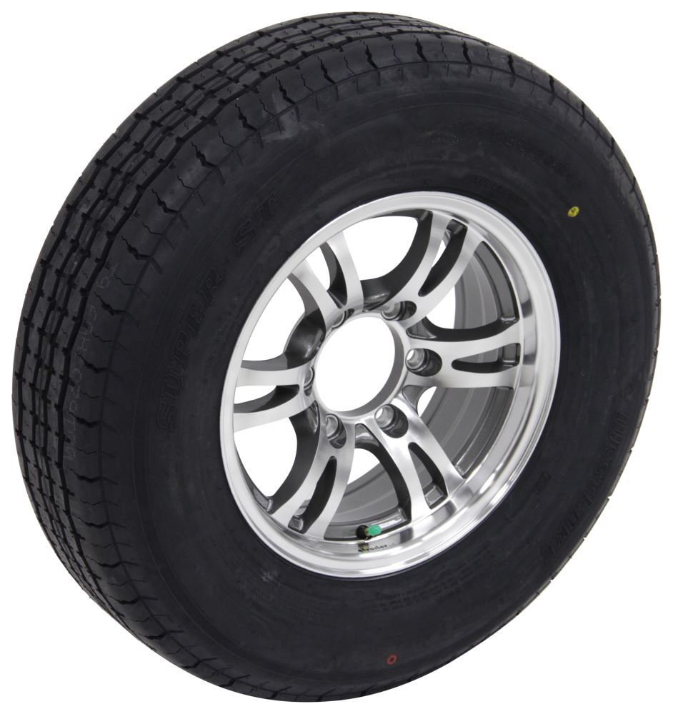 "Westlake ST225/75R15 Radial Tire w 15"" Jaguar Aluminum Wheel - 6 on 5-1/2 - LR E - Gray Load Range E LHAWSJ392"