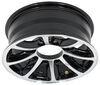 "Aluminum Bearcat Trailer Wheel - 16"" x 6"" Rim - 8 on 6-1/2 - Black 8 on 6-1/2 Inch LHBE1668BMF"