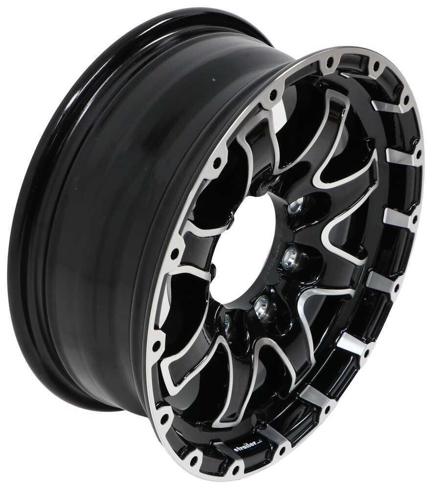 "Aluminum Lion Trailer Wheel - 16"" x 6"" Rim - 8 on 6-1/2 - Black 16 Inch LHLN1668BMF"