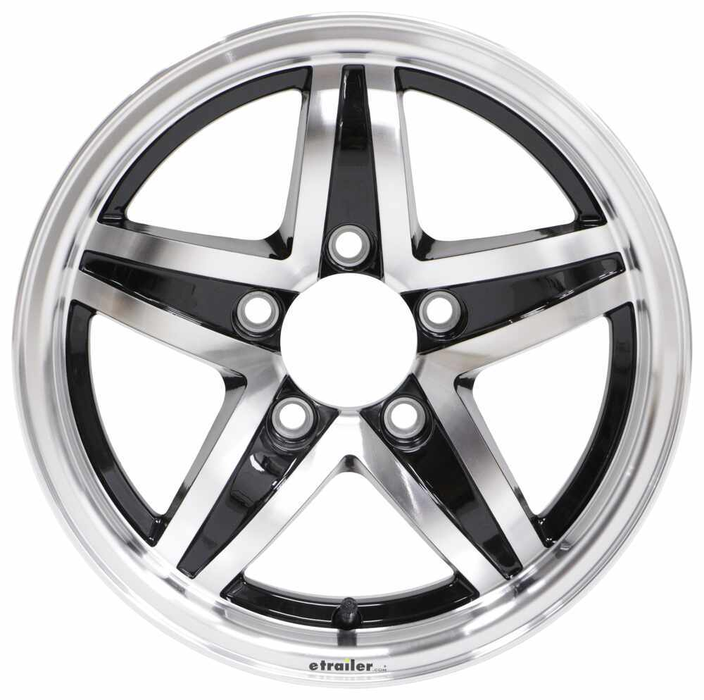 "Aluminum Lynx Trailer Wheel - 14"" x 5-1/2"" Rim - 5 on 4-1/2 - Black 14 Inch LHSJ211B"