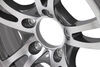 "Aluminum Jaguar Trailer Wheel - 14"" x 5-1/2"" Rim - 5 on 4-1/2 - Gunmetal Gray 5 on 4-1/2 Inch LHSJ211G"