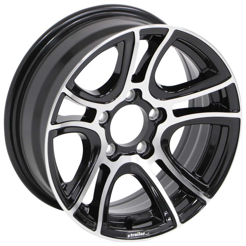 "Aluminum Siberian Trailer Wheel - 15"" x 6"" Rim - 5 on 4-1/2 - Black Aluminum Wheels,Boat Trailer Wheels LHSUSB1565B"