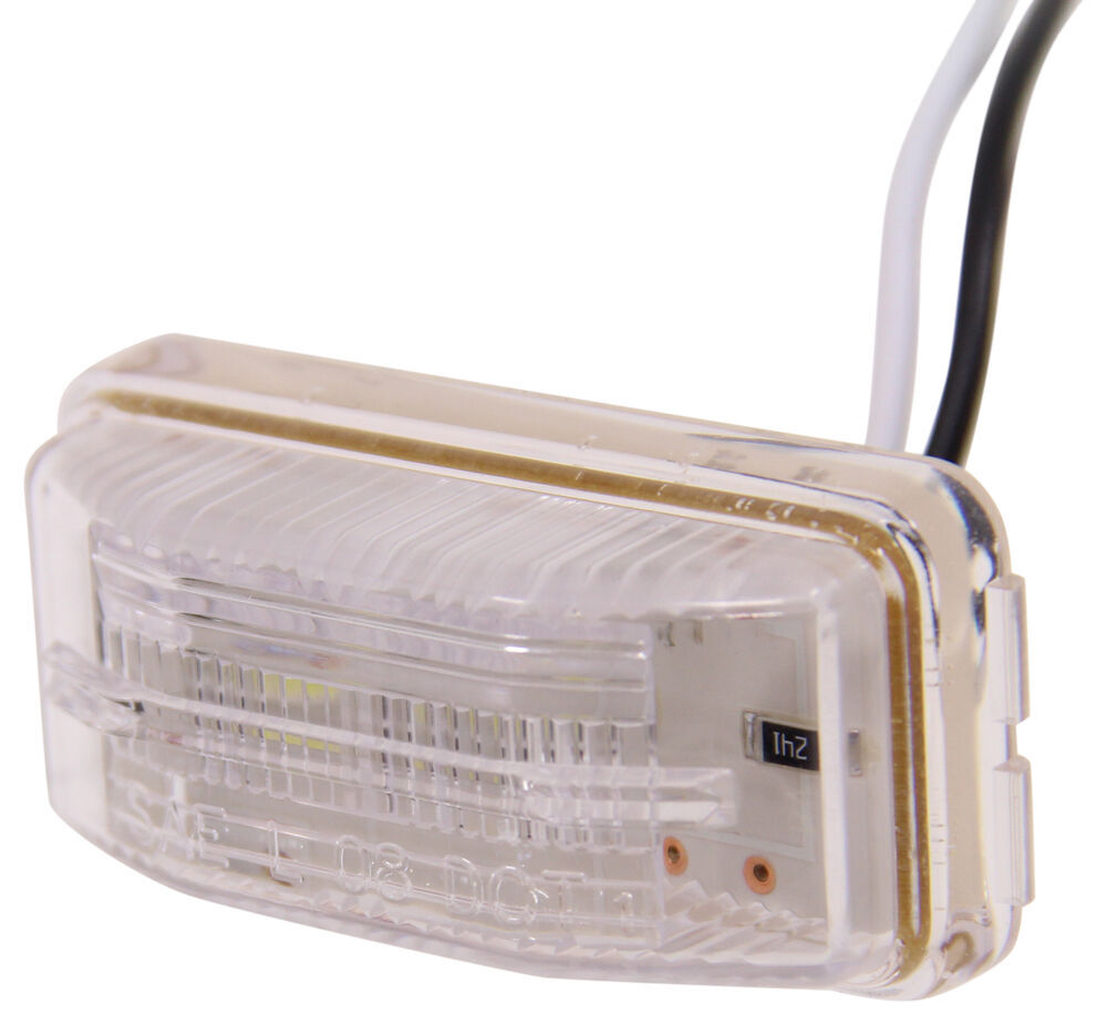 LED Trailer License Plate Light - Submersible - 2 Diodes - Rectangle - Clear Lens Rectangle LPL91CB