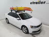 2013 volkswagen jetta watersport carriers lockrack fishing kayak canoe paddle board roof mount carrier in use