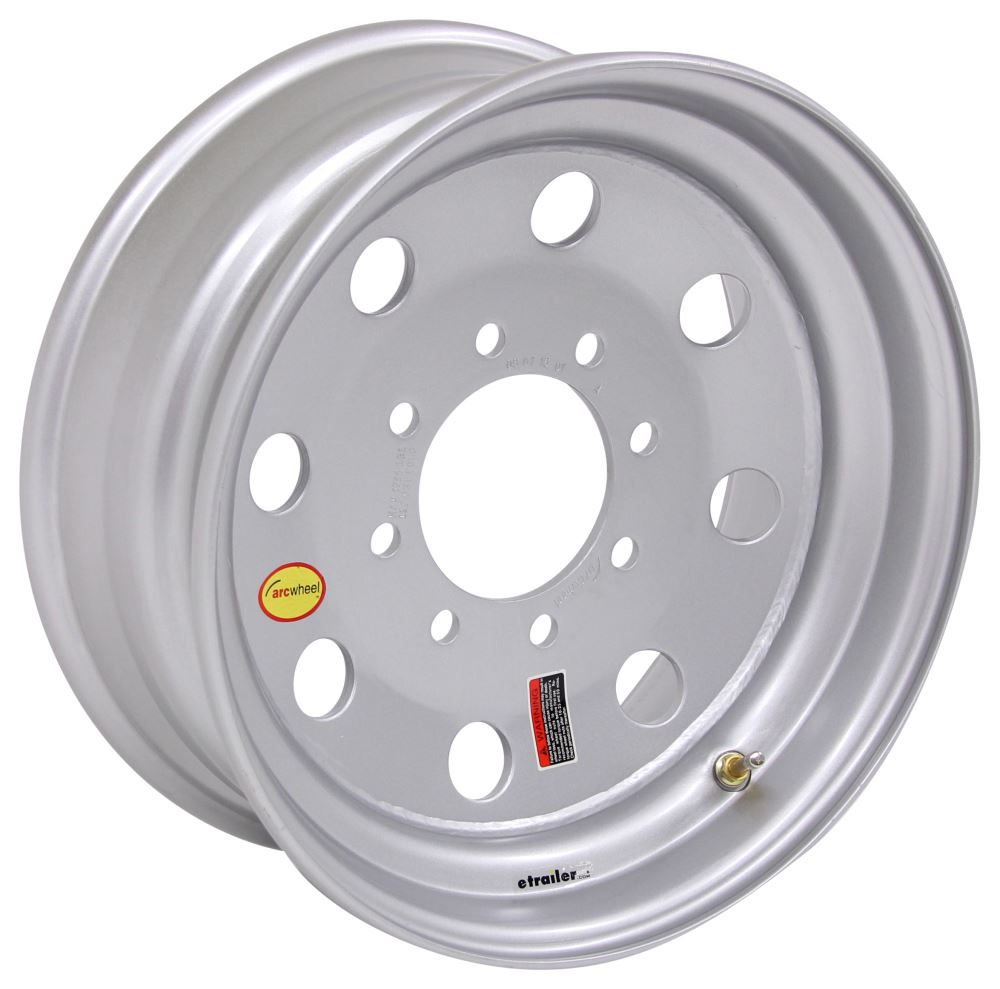 "Taskmaster Modular Wheel w/ +0.08 Offset - 17-1/2"" x 6-3/4"" Rim - 8 on 6-1/2 - Silver 17-1/2 Inch LT589DMPSX"