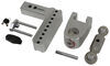 """180 Hitch 2-Ball Mount w/ Stainless Steel Balls - 2"""" Hitch - 6"""" Drop, 7"""" Rise - 12.5K Aluminum Shank - Silver LTB6-2"""