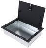 m-3 and associates trailer cargo organizers floor storage locking box mounted for enclosed trailers - 19 inch x 29 7-1/4