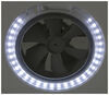 maxxair rv vents and fans roof vent mini deluxe trailer w/ 12v fan - powered 1 speed white