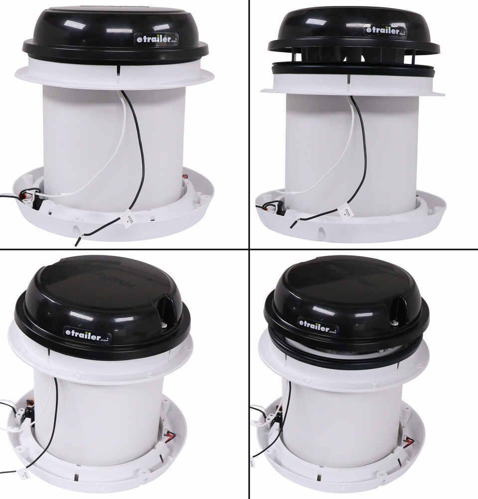 Maxxfan Dome Plus Roof Vent W 12v Fan Led Light 6 Diameter Manual Lift Black Maxxair Rv Vents And Fans Ma00 03810b
