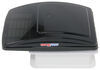 maxxair rv vents and fans roof vent maxxfan deluxe w/ 12v fan thermostat - manual lift 10 speed smoke