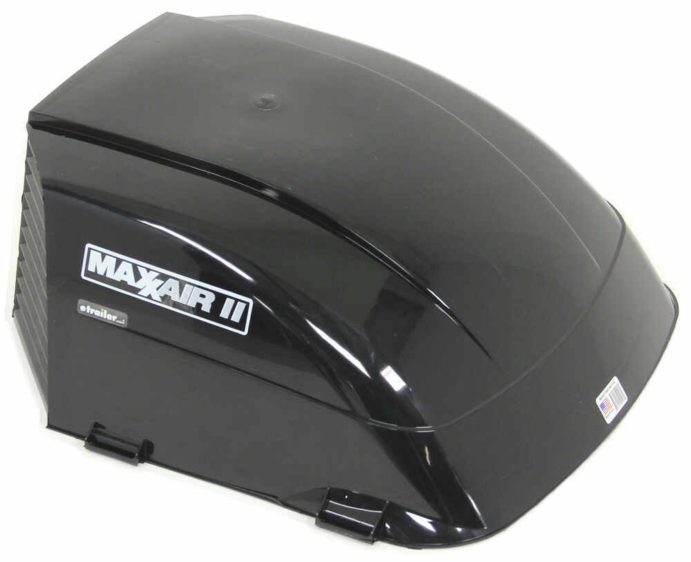 """MaxxAir II RV and Trailer Roof Vent Cover - 22-3/4"""" x 18-1/2"""" x 9-3/8"""" - Black 18-1/2W x 22-3/4L Inch MA00-933075"""