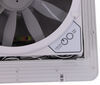 MaxxFan Roof Vent w/ 12V Fan - Manual Lift - 4 Speed - White 14W x 14L Inch MA00A04301K