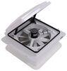 MaxxFan Roof Vent w/ 12V Fan - Manual Lift - 4 Speed - White Manual Lift MA00A04301K